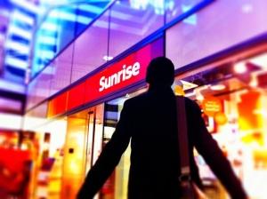 Sunrise zeigt mir die kalte Schulter
